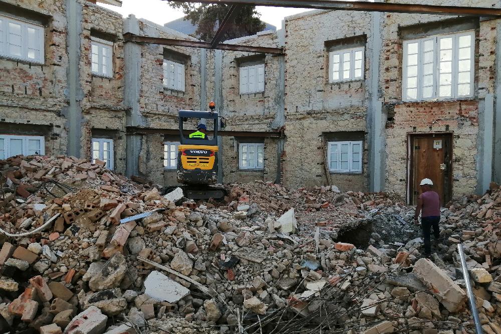 sapatas cimento para edificios